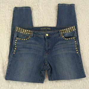 🌹Michael Kors Square Studded Skinny Jeans Sz 16